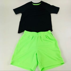 Spotted Zebra Boys Shirt Shorts Set Black XS 4 - 5